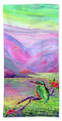 Kingfisher, Shimmering Streams Beach Towel
