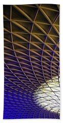 Beach Towel featuring the photograph Kings Cross Railway Station Roof by Matthias Hauser