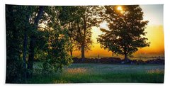 Beach Towel featuring the photograph Kingsbury Sunset by Kendall McKernon