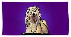 Kiniart Lhasa Apso Braided Beach Towel