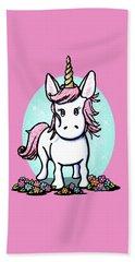 Kiniart Unicorn Sparkle Beach Towel by Kim Niles