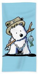 Kiniart Westie Fisherman Beach Towel