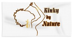 Beach Sheet featuring the digital art Kinky By Nature by Rachel Natalie Rawlins