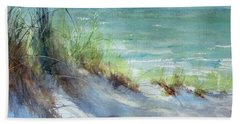 Beach Towel featuring the painting Kirk County Morning by Sandra Strohschein