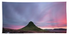 Kirkjufellsfoss Waterfalls Iceland Square Version Beach Towel