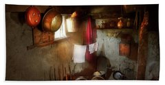 Beach Towel featuring the photograph Kitchen - Homesteading Life by Mike Savad