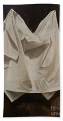 Beach Towel featuring the painting Painting Alla Rembrandt - Minimalist Still Life Study by Rosario Piazza