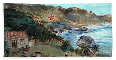 Kites At Bathsheba Beach Towel