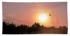 Kites Flying In Park Beach Towel by Matt Harang