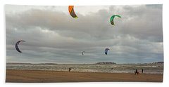 Kitesurfing On Revere Beach Beach Towel
