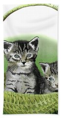 Beach Towel featuring the painting Kitty Caddy by Ferrel Cordle