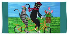 Kitty Cat Outing Beach Towel