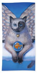 Kitty Yin Yang- Cat Angel Beach Sheet