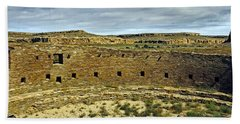 Beach Towel featuring the photograph Kiva View Chaco Canyon by Kurt Van Wagner