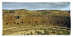 Beach Sheet featuring the photograph Kiva View Chaco Canyon by Kurt Van Wagner