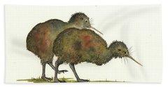 Kiwi Birds Beach Towel