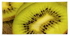 Kiwi Slices Beach Towel