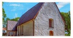 Beach Towel featuring the photograph Kjaerrbo Church  by Leif Sohlman