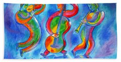 Klezmer On The Roof Beach Towel