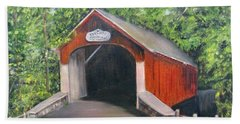 Knechts Covered Bridge Beach Towel