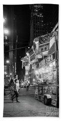 Knish, New York City  -17831-17832-bw Beach Towel