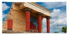 Knossos Palace At Crete, Greece Beach Towel