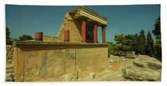 Knossos Palace  Beach Sheet by Rob Hawkins