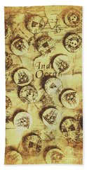 Knots And Buttons Beach Towel
