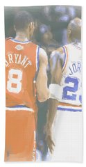 Kobe Bryant Michael Jordan 2 Beach Towel