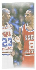 Kobe Bryant Michael Jordan Beach Towel