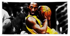 Kobe Bryant School Time Beach Towel