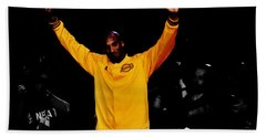 Kobe Bryant Thanks For The Memories Beach Sheet by Brian Reaves