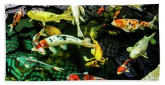Beach Towel featuring the photograph Koi 2018 1 by Phyllis Spoor