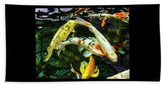 Beach Towel featuring the photograph Koi 2018 2 by Phyllis Spoor
