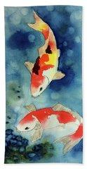 Koi Fish 3  Beach Towel