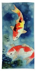 Koi Fish 3  Beach Sheet