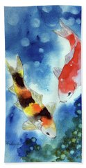 Koi Fish 4 Beach Sheet