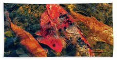 Koi Fish Fresco One Beach Towel