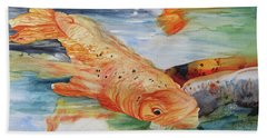 Koi I Beach Towel
