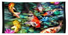 Koi Paradise Beach Towel by Susan Kinney
