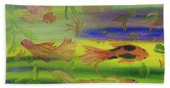 Koi Play Beach Towel by Meryl Goudey