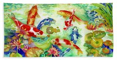 Koi Pond I Beach Towel
