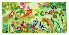 Koi Pond II Beach Sheet