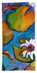 Beach Towel featuring the painting Koi Pond II Sold by Lil Taylor