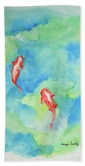 Koi Summer Beach Towel