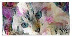 Koko The Siamese Kitten Beach Sheet