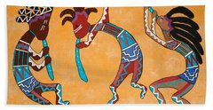 Kokopelli Trio Beach Towel