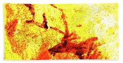 Beach Towel featuring the digital art Kondane Deer by Asok Mukhopadhyay