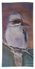 Beach Towel featuring the painting Kookaburra Fancy by Leslie Allen