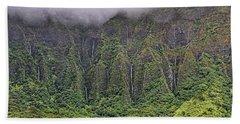 Ko'olau Waterfalls Beach Towel